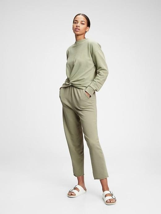 <p>We're so into the color of this <span>Vintage Soft Twist-Front Crewneck Sweatshirt</span> ($55) and these matching <span>French Terry Barrel Joggers</span> ($50). The twist detail on the sweatshirt is just right.</p>