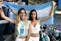 <p>Argentina fans in the stands before the FIFA World Cup Group D match at Saint Petersburg Stadium. (Photo by Owen Humphreys/PA Images via Getty Images) </p>
