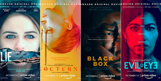 Carteles de las películas de Welcome to the Blumhouse (Amazon Prime)
