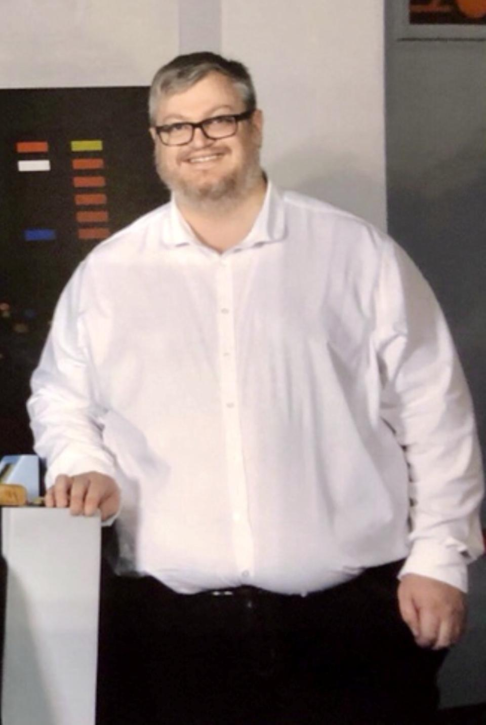 Martin Hannis before his weight loss. (SWNS)