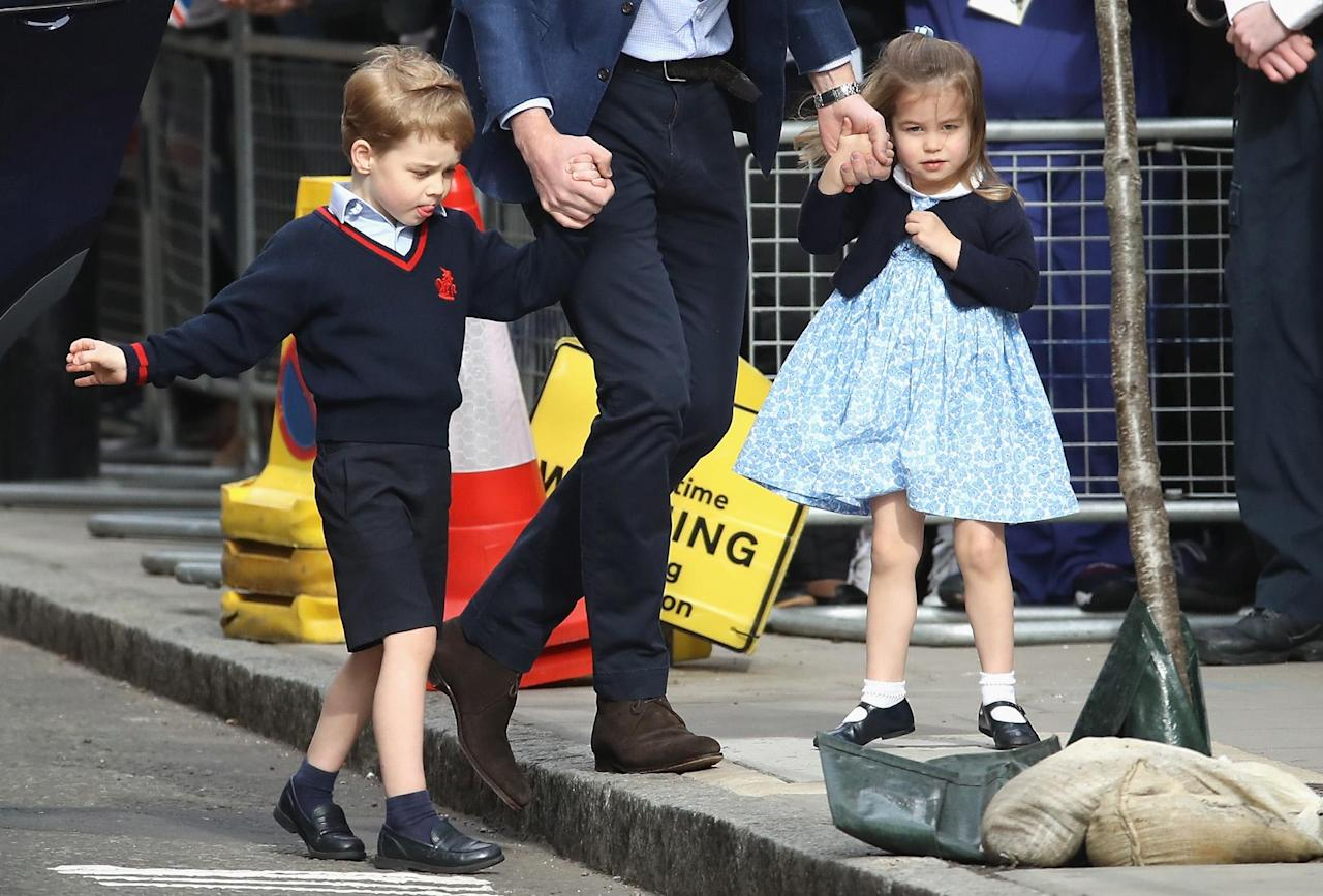 <p>The pair were all dressed up and looking their best to meet their new baby brother.</p>