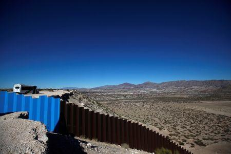General view shows a newly built section of the U.S.-Mexico border fence at Sunland Park, U.S. opposite the Mexican border city of Ciudad Juarez