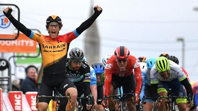 Spanish rider Ivan Garcia Cortina won stage three of Paris-Nice (AFP Photo/Alain JOCARD)