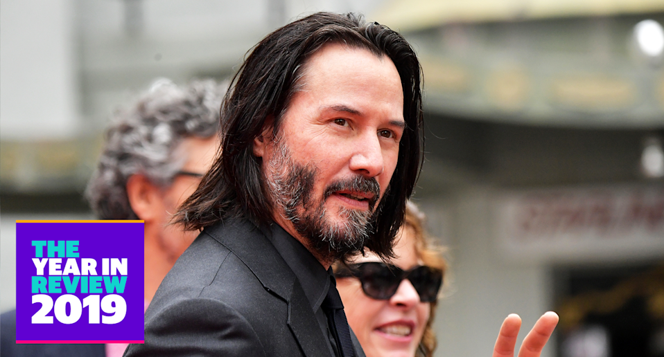 "From John Wick 3 to ""breathtaking"" moments, Keanu Reeves totally won 2019. (Photo: Getty Images)"