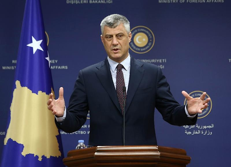 "Kosovo's Foreign Minister Hashim Thaci told AFP he received ""a death threat against me and my family,"" allegedly signed by IS chief Abu Bakr al-Baghdadi"