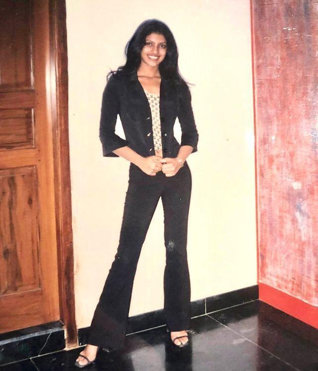 """<p>Priyanka Chopra Jonas has shared an incredibly sassy and beautiful throwback picture of herself, aged 17. </p><p>The actress shared the photograph on her Instagram account on Monday January 11 with the caption: 'Lean, mean and all of 17!!!' The image shows Chopra Jonas wearing a pair of black flared jeans, heeled stilettos, a denim shirt jacket and a peek-a-boo Nineties midriff top.</p><p>The throwback photo would have been taken about a year before the Baywatch star was crowned Miss World, aged 18, in 2000. </p><p>The actress' ended the photo's caption with a hashtag that refers to her upcoming memoir, Unfinished, out January 19. </p><p><a href=""""https://www.instagram.com/p/CJ6KME5Hwpx/?utm_source=ig_embed&utm_campaign=loading"""" rel=""""nofollow noopener"""" target=""""_blank"""" data-ylk=""""slk:See the original post on Instagram"""" class=""""link rapid-noclick-resp"""">See the original post on Instagram</a></p>"""