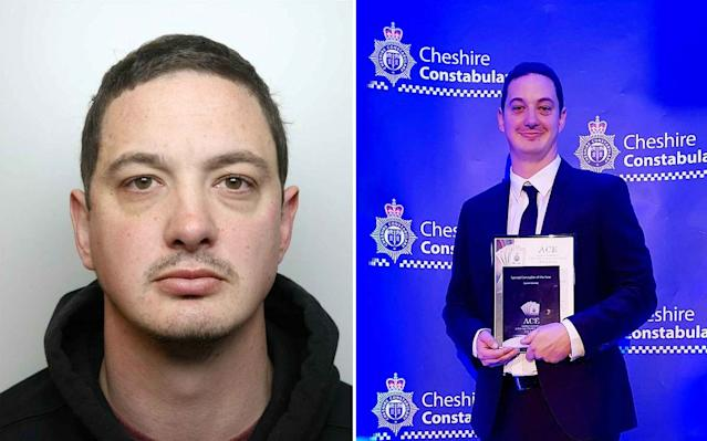 Special constable Daniel Glassey bombarded the women with abuse as part of a two-year campaign of controlling behaviour, Cheshire Crown Court heard (SWNS)
