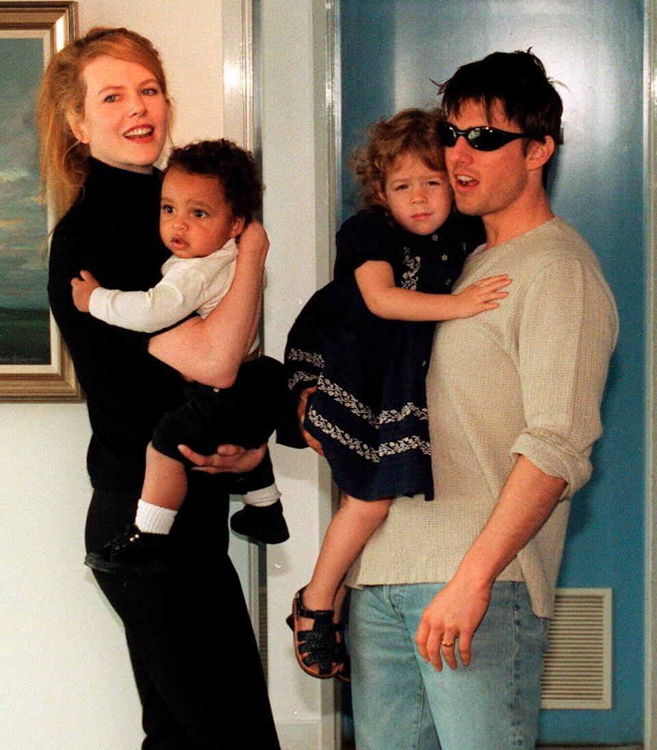 Tom Cruise, Nicole Kidman, and children, Isabella and Connor