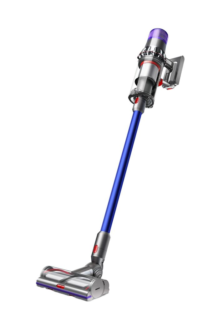 """Yes, the Dyson is a splurge. But it's also a cordless wonder with twice the suction power of other cordless vacuums, and an LCD screen to display performance and run time stats. If you're considering doing a group gift for a housewarming, this might be just the thing! $700, Dyson. <a href=""""https://www.dyson.com/vacuum-cleaners/sticks/dyson-v11-stick/dyson-v11-torque-drive-nickel-blue"""" rel=""""nofollow noopener"""" target=""""_blank"""" data-ylk=""""slk:Get it now!"""" class=""""link rapid-noclick-resp"""">Get it now!</a>"""