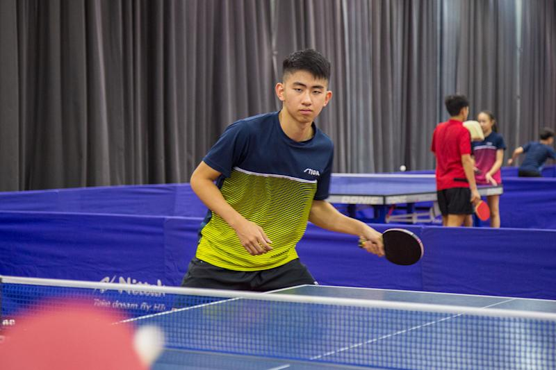 Koen Pang began playing table tennis at age five, joining his mother and elder brother in recreational games. (PHOTO: Dhany Osman/Yahoo News Singapore)