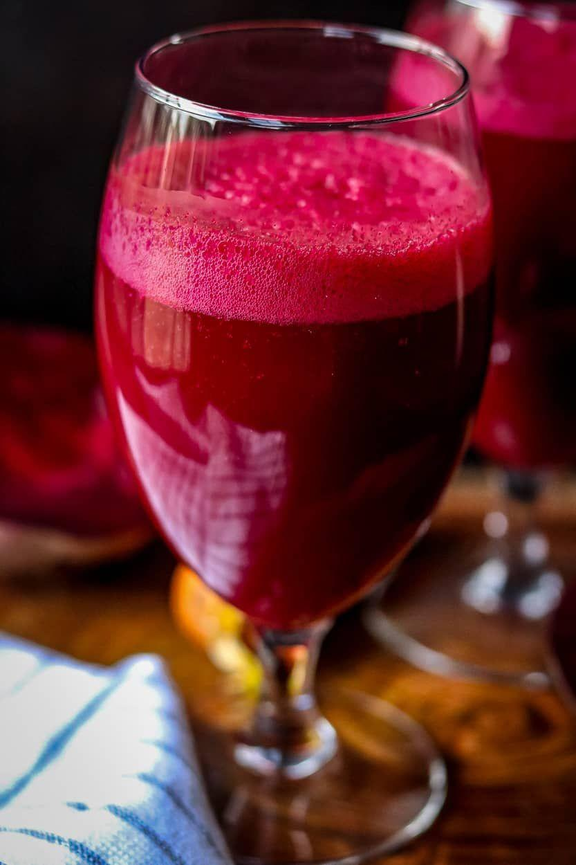 """<p>Make yourself a big glass of this juice in the morning, and you'll have enough nutrients to keep you going until noon. </p><p><strong>Get the recipe at <a href=""""https://www.savorythoughts.com/beet-carrot-apple-juice/"""" rel=""""nofollow noopener"""" target=""""_blank"""" data-ylk=""""slk:Savory Thoughts"""" class=""""link rapid-noclick-resp"""">Savory Thoughts</a>.</strong></p><p><strong><a class=""""link rapid-noclick-resp"""" href=""""https://www.amazon.com/Hamilton-Beach-Functions-Dishwasher-58148A/dp/B00EI7DPI0/?tag=syn-yahoo-20&ascsubtag=%5Bartid%7C10050.g.34063059%5Bsrc%7Cyahoo-us"""" rel=""""nofollow noopener"""" target=""""_blank"""" data-ylk=""""slk:SHOP BLENDERS"""">SHOP BLENDERS</a><br></strong></p>"""