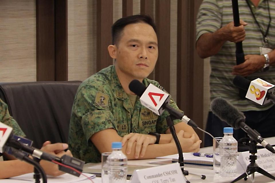 Chief Army Medical Officer Colonel (Dr) Edward Lo addresses reporters at a press conference on Thursday, 24 January 2019. PHOTO: Dhany Osman/Yahoo News Singapore