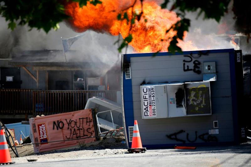 The US appears to be coming apart at the seams ahead of the November election as social unrest mounts. Source: Getty
