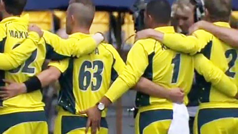 Usman Khawaja, pictured here grabbing Adam Zampa's backside in 2018.