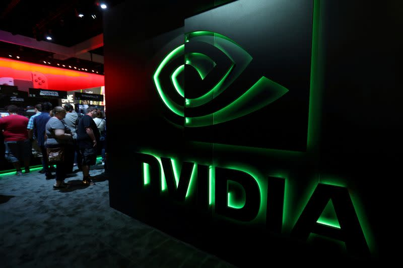 FILE PHOTO: Nvidia at the E3 2017 Electronic Entertainment Expo in Los Angeles