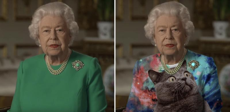 Peter Chiykowski's Photoshop of the Queen picked up steam online. (Twitter)