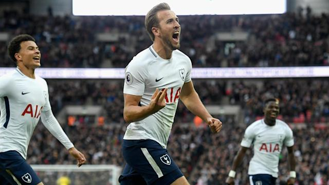 Harry Kane scored twice in Tottenham's 4-1 demolition of Liverpool.
