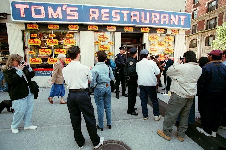 <p>Although <em>Seinfeld</em> wasn't actually filmed in Tom's Restaurant, fans still visit the diner that was used for the exterior shot on the show. </p>