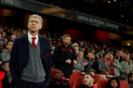 Soccer Football - Europa League Quarter Final First Leg - Arsenal vs CSKA Moscow - Emirates Stadium, London, Britain - April 5, 2018   Arsenal manager Arsene Wenger before the match    Action Images via Reuters/John Sibley