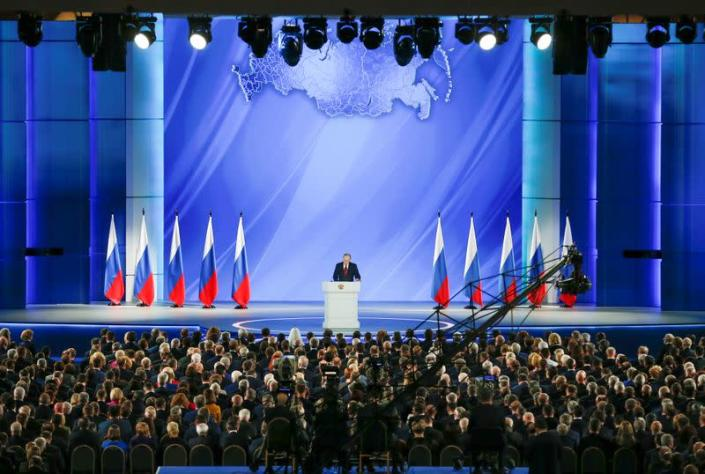 Russian President Vladimir Putin addresses the State Council in Moscow