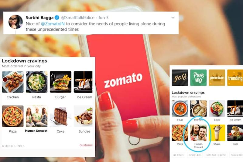 Comedian Craves for 'Human Contact' During Lockdown with Meme, Zomato Delivers