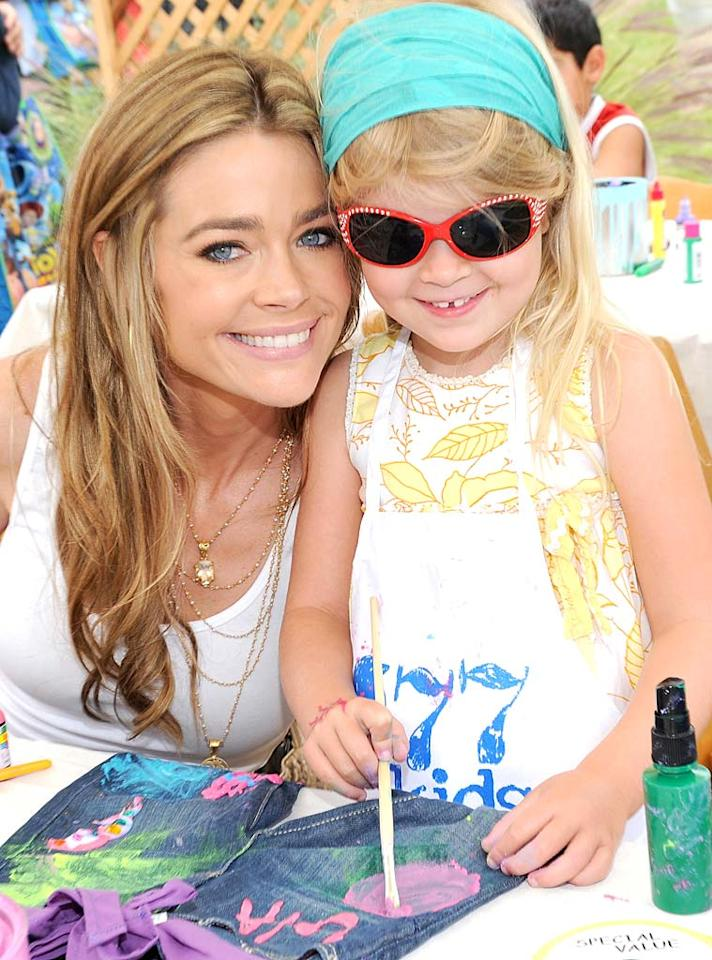 """Denise Richards and her little diva, 5-year-old Lola, went wild on their canvas. The mommy-daughter duo, along with Lola's 6-year-old sis Sam, are usually nearby anytime there's a fete for a good cause. Michael Buckner/<a href=""""http://www.gettyimages.com/"""" target=""""new"""">GettyImages.com</a> - June 13, 2010"""