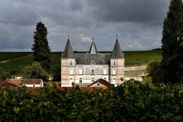 Chateau Fontpinot, part of Maison Frapin cognac house, in the village of Segonzac
