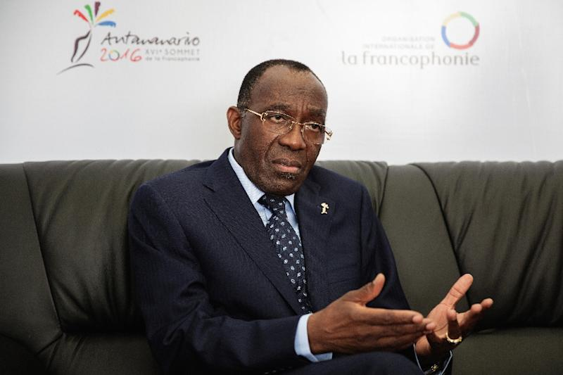 Democratic Republic of the Congo Foreign Minister Raymond Tshibanda warned political opposition to incumbent president Laurent Kabila could foment violence (AFP Photo/Gianluigi Guercia)