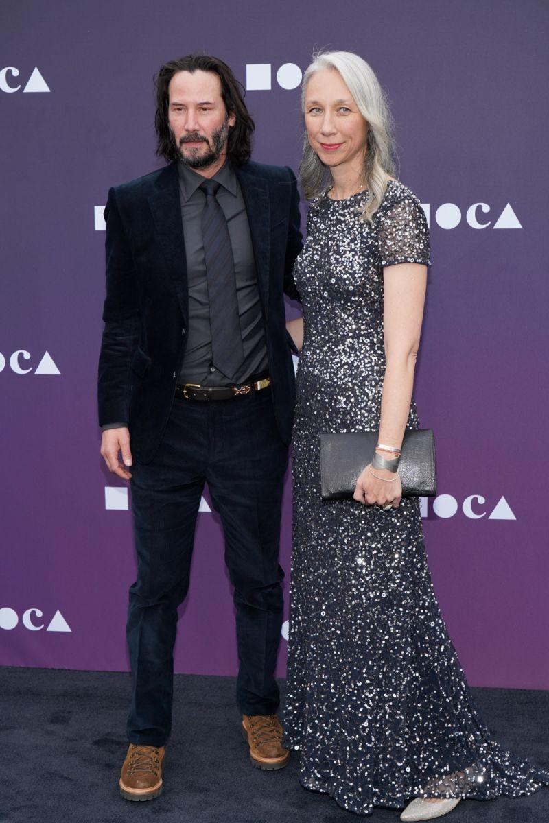 Keanu Reeves et Alexandra Grant en mai 2019. Image via Getty Images.