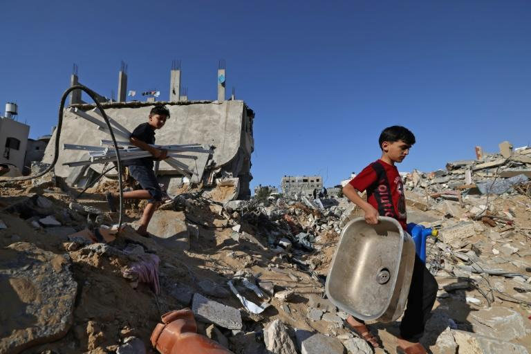 Beit Hanun has been heavily damaged by 11 days of Israeli air strikes