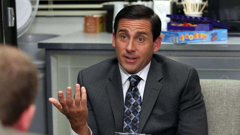 Steve Carell as Michael Scott on the American version of 'The Office'. (Credit: NBC)
