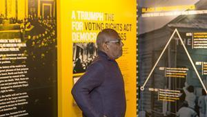 Freedom Award honoree Bob Moses visits the National Civil Rights Museum at the Lorraine Motel in 2014.