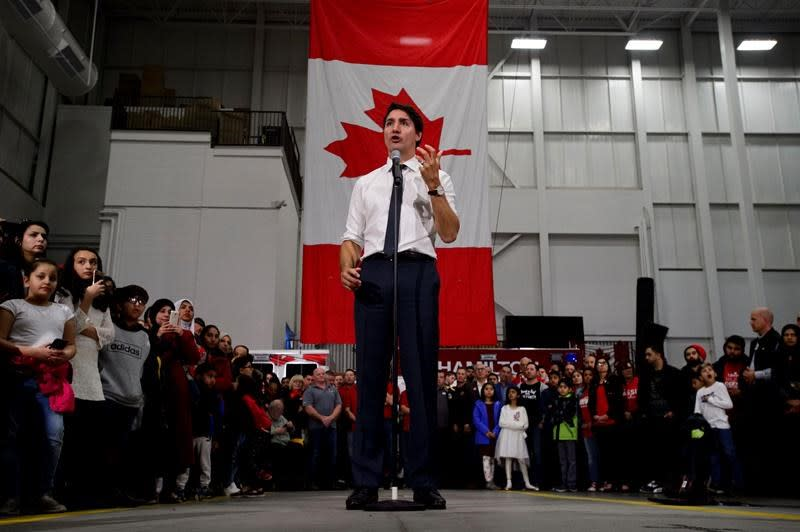 Trudeau defends record on Indigenous issues, as stump speech mentions are brief