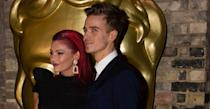 """<p>And yet another romance emerged on <em>Strictly Come Dancing. </em>27-year-old vlogger <a rel=""""nofollow"""" href=""""https://uk.news.yahoo.com/joe-sugg-revealed-romance-strictly-come-dancing-partner-dianne-buswell-095703037.html"""" data-ylk=""""slk:Joe Sugg has finally confirmed he is indeed in a relationship with his Strictly pro partner Dianne Buswell;outcm:mb_qualified_link;_E:mb_qualified_link;ct:story;"""" class=""""link rapid-noclick-resp yahoo-link"""">Joe Sugg has finally confirmed he is indeed in a relationship with his <em>Strictly </em>pro partner Dianne Buswell</a>. The 29-year-old red-haired Aussie reportedly <a rel=""""nofollow"""" href=""""https://uk.news.yahoo.com/strictly-curse-joe-suggs-partner-dianne-buswell-splits-emmerdale-actor-boyfriend-103106183.html?bcmt=1"""" data-ylk=""""slk:dumped her Emmerdale;outcm:mb_qualified_link;_E:mb_qualified_link;ct:story;"""" class=""""link rapid-noclick-resp yahoo-link"""">dumped her <em>Emmerdale </em></a>actor boyfriend Anthony Quinlan just weeks into the show for Sugg. </p>"""