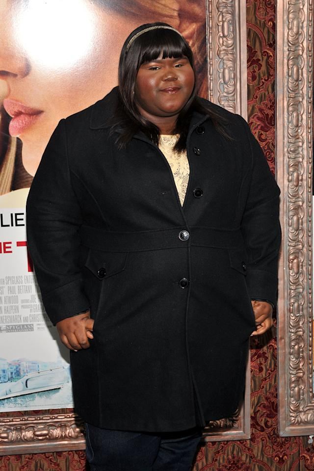 "<a href=""http://movies.yahoo.com/movie/contributor/1810088328"">Gabourey Sidibe</a> attends the New York premiere of <a href=""http://movies.yahoo.com/movie/1810149482/info"">The Tourist</a> on December 6, 2010."
