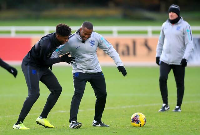 Michael Johnson has been helping coach England Under-21s this season. (Mike Egerton/PA)