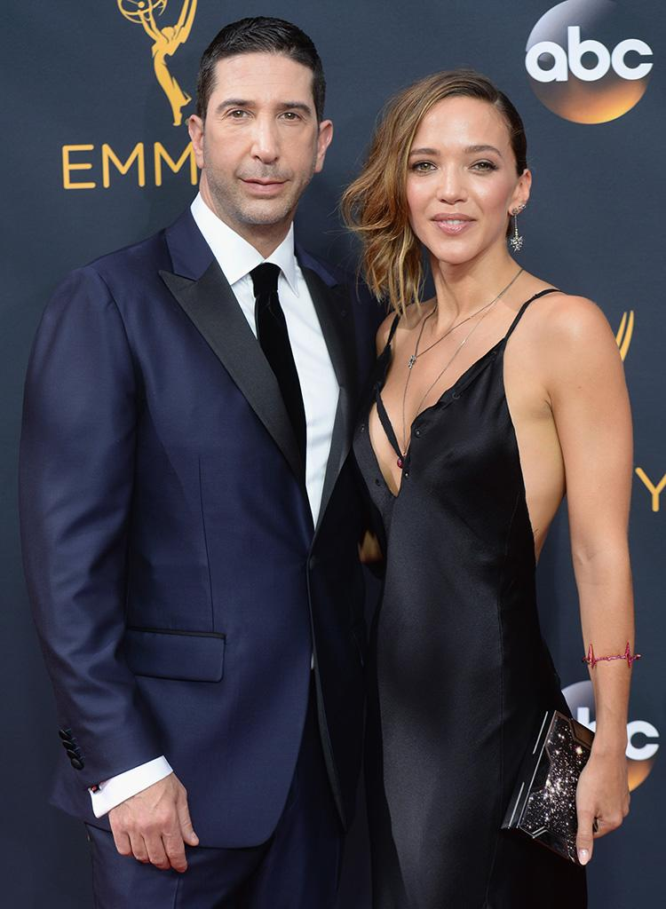 David Schwimmer (L) and Zoe Buckman, seen here at the 68th Annual Primetime Emmy Awards on September 18, 2016, are reevaluating future of their six-year marriage. (Photo: Jeff Kravitz/FilmMagic)