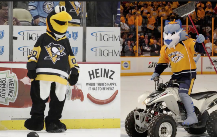Here is a tale of the tape for the ancillary nonsense between the Penguins  and the Predators, from fans to food to mascots to everything else.