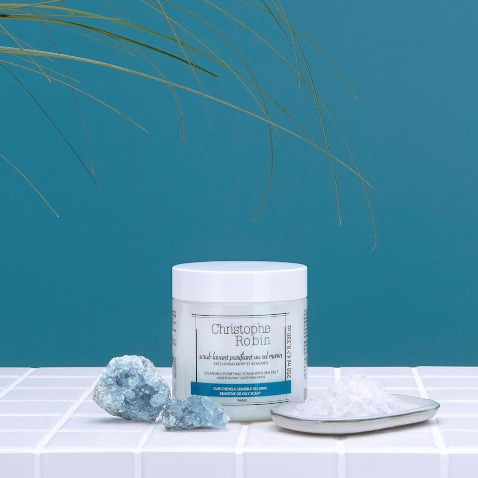 """<br><br><strong>Christophe Robin</strong> Cleansing Purifying Scrub with Sea Salt (250ml), $, available at <a href=""""https://www.lookfantastic.com/christophe-robin-cleansing-purifying-scrub-with-sea-salt-250ml/10787030.html"""" rel=""""nofollow noopener"""" target=""""_blank"""" data-ylk=""""slk:LookFantastic"""" class=""""link rapid-noclick-resp"""">LookFantastic</a>"""