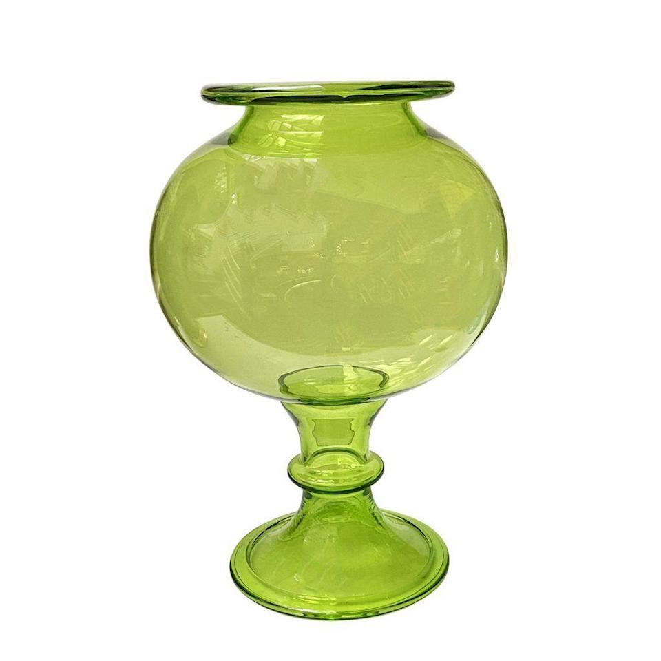 """<p>krbnyc.com</p><p><strong>$1550.00</strong></p><p><a href=""""https://krbnyc.com/inventory/monumental-bottle-green-hand-blown-leech-bowl/"""" rel=""""nofollow noopener"""" target=""""_blank"""" data-ylk=""""slk:Shop Now"""" class=""""link rapid-noclick-resp"""">Shop Now</a></p><p>""""Give me gardenias, a mass of them, resplendent and fragrant, made easy by [luxury flower delivery company] <a href=""""https://highcampsupply.com/"""" rel=""""nofollow noopener"""" target=""""_blank"""" data-ylk=""""slk:High Camp Supply"""" class=""""link rapid-noclick-resp"""">High Camp Supply</a>. Generous and overflowing, you'll want to savor every minute,"""" says Moss. </p>"""