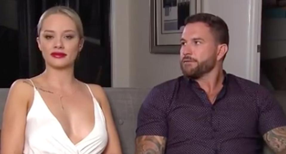 It was the scandal that rocked the 2019 season of 'Married at First Sight'. Jess and Dan famously left their partners on the show to pursue a relationship with one another. However, after the show aired it seemed there was trouble in paradise as the couple were caught in a fight on live TV and Dan claimed to have dumped Jess following the argument. Photo: Channel 9