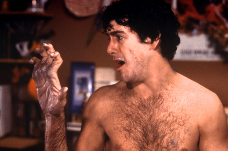 American actor David Naughton on the set of An American Werewolf in London, written and directed by John Landis. (Photo by Universal Pictures/Sunset Boulevard/Corbis via Getty Images)
