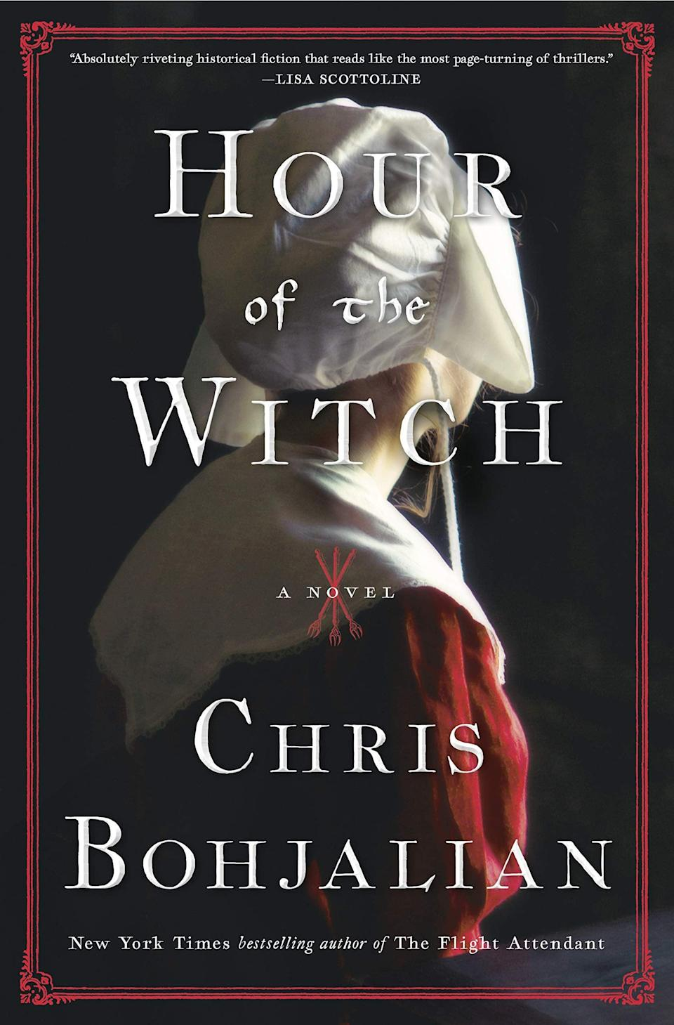 <p>Chris Bohjalian's latest thriller is a nail-biting historical novel about a woman whose quest for a divorce in 1662 Boston might just end with her being branded a witch. In <span><strong>Hour of the Witch</strong></span>, 24-year-old Mary Deerfield is desperate to escape her violent husband, Thomas. But in the New World, where every woman is under suspicion of being a witch, her desire to escape her marriage may end up sending her to the gallows if she isn't careful. </p> <p><em>Out May 4</em></p>