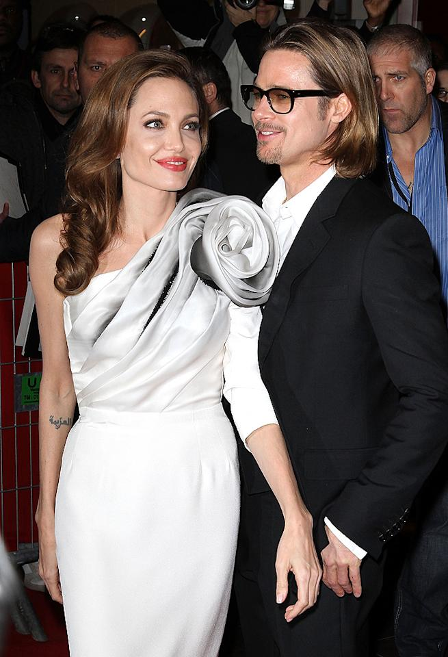 """Brad Pitt """"prefers his ladies to be rail-thin,"""" reports the <i>National Enquirer,</i> which reveals the star told Angelina Jolie he wants her """"super-thin for their red-carpet appearances."""" She's now """"wasting away at less than 100 pounds,"""" says the mag. For how thin Pitt ultimately wants Jolie, and how she reacted, see what an insider confides to <a target=""""_blank"""" href=""""http://www.gossipcop.com/brad-pitt-girlfriends-skinny-angelina-jolie-weight/"""">Gossip Cop</a>."""