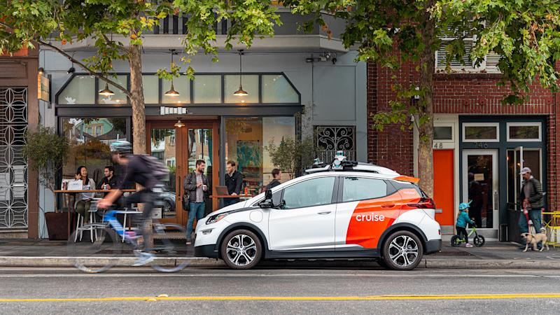 Cruise car in Hayes Valley, San Francisco