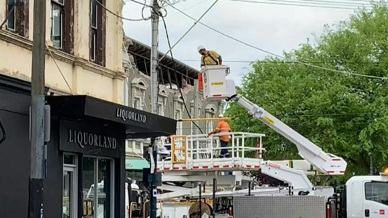 Damaged buildings in Melbourne after rare quake (AFP/Tania LEE)