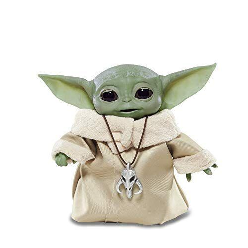 """<p><strong>Star Wars</strong></p><p>amazon.com</p><p><strong>$68.94</strong></p><p><a href=""""https://www.amazon.com/dp/B084PTVQLZ?tag=syn-yahoo-20&ascsubtag=%5Bartid%7C10070.g.34428616%5Bsrc%7Cyahoo-us"""" rel=""""nofollow noopener"""" target=""""_blank"""" data-ylk=""""slk:SHOP NOW"""" class=""""link rapid-noclick-resp"""">SHOP NOW</a></p><p>Who could resist Baby Yoda? This little guy features a variety of motorized movements and even giggles and babbles when played with. All you have to do to activate Baby Yoda and start having some fun is pat the top of his head. <em>Ages 4+</em></p>"""