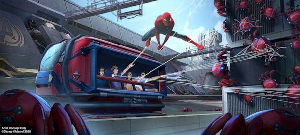 PHOTO: A Spider-Man Adventure lets recruits to put their web-slinging skills to the test as they team up with Spider-Man to capture his out-of-control Spider-Bots before they wreak havoc on the Campus. (Disneyland Resort)
