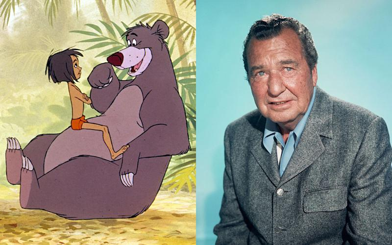 Phil Harris – Baloo in 'The Jungle Book' (1967) - Credit: Rex