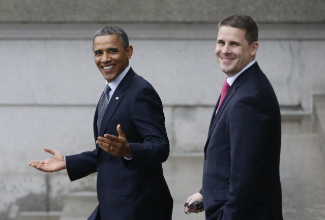 President Obama with adviser Dan Pfeiffer, January 2013. (Photo: Charles Dharapak/AP)